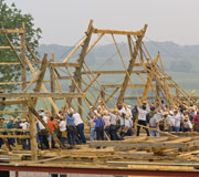Download this picture 'Barn Raising' at The Farm at Walnut Creek