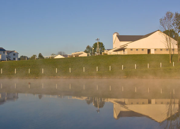 Download this picture 'Reflections' on the pond at The Farm at Walnut Creek