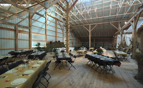 Interior of event barn